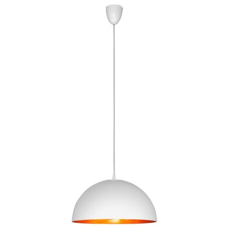 Подвесной светильник Nowodvorski Hemisphere 4893, 1xE27x100W, белый, матовое золото, металл