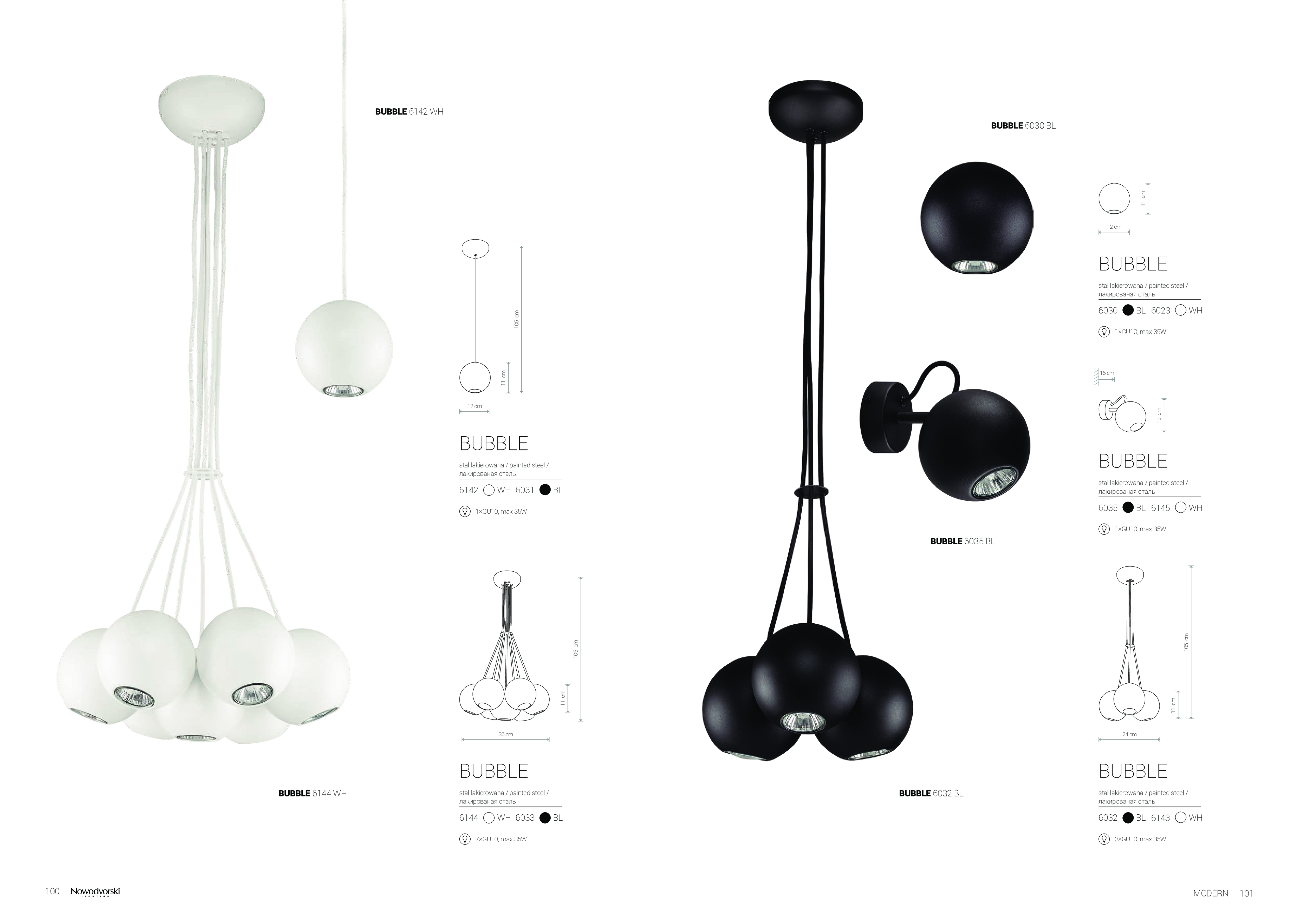 Подвесной светильник Nowodvorski Bubble 6031, 1xGU10x35W, черный, металл - фото 5