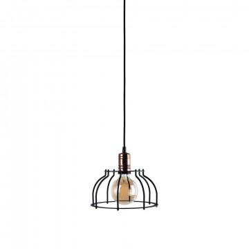 Подвесной светильник Nowodvorski Workshop 6335, 1xE27x60W, медь, черный, металл
