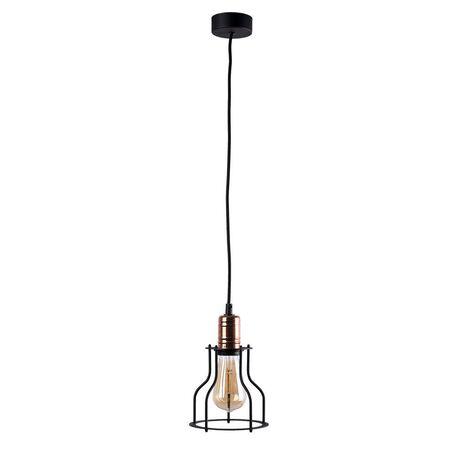 Подвесной светильник Nowodvorski Workshop 6336, 1xE27x60W, медь, черный, металл