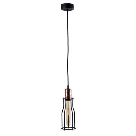 Подвесной светильник Nowodvorski Workshop 6337, 1xE27x60W, медь, черный, металл