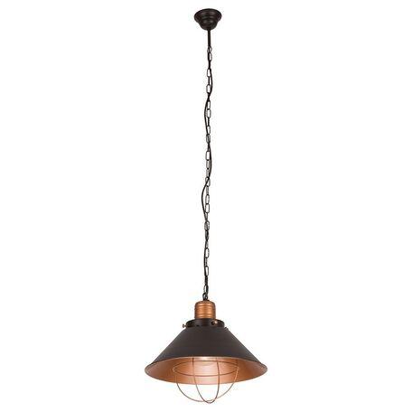 Подвесной светильник Nowodvorski Garret 6443, 1xE27x60W, черный, медь, металл