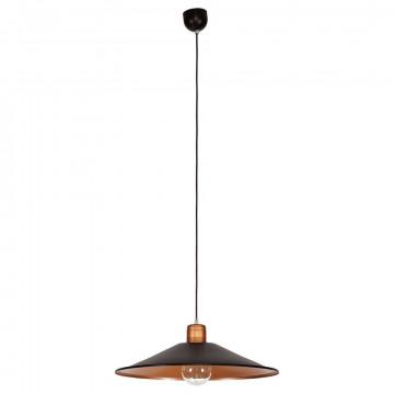 Подвесной светильник Nowodvorski Garret 6444, 1xE27x60W, черный, медь, металл