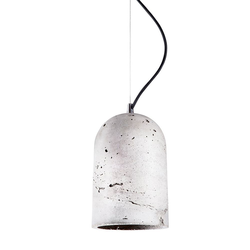 Подвесной светильник Nowodvorski Lava 6855, 1xE27x60W, сталь, серый, металл, бетон - фото 1