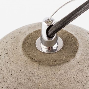 Подвесной светильник Nowodvorski Lava 6855, 1xE27x60W, сталь, серый, металл, бетон - миниатюра 5