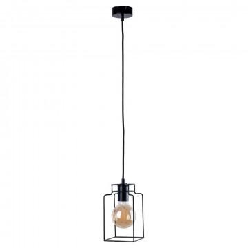 Подвесной светильник Nowodvorski Fiord 9668, 1xE27x60W, черный, металл