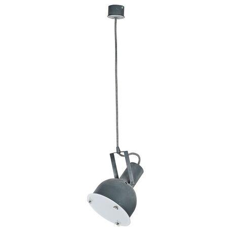 Подвесной светильник Nowodvorski Industrial 5647, 1xE27x60W, серый, белый, металл, стекло