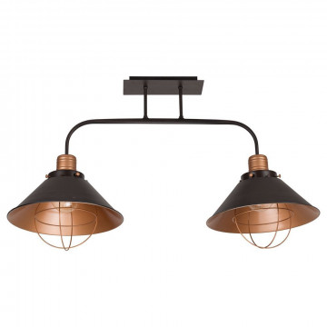 Потолочный светильник Nowodvorski Garret 6445, 2xE27x60W, черный, медь, металл