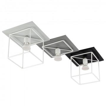 Потолочный светильник Nowodvorski Coba 9724, 3xGU10x35W, белый, серый, черный, дерево, металл