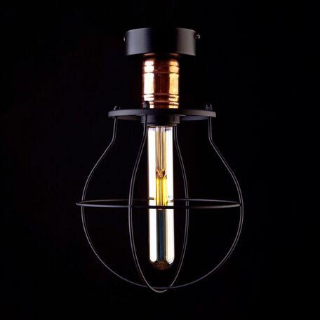 Потолочный светильник Nowodvorski Manufacture 9741, 1xE27x60W, медь, черный, металл
