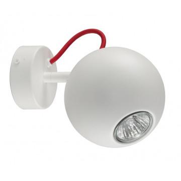 Потолочный светильник с регулировкой направления света Nowodvorski Bubble 6028, 1xGU10x35W, белый, красный, металл