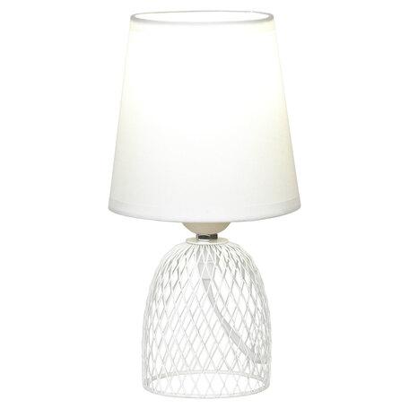 Настольная лампа Lussole LGO Lattice LSP-0561, IP21, 1xE27x40W, белый, металл, текстиль
