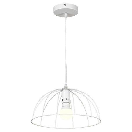 Подвесной светильник Lussole LGO Lattice LSP-8214, IP21, 1xE27x40W, белый, металл