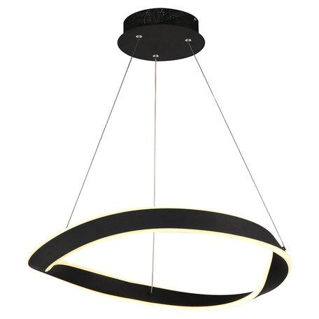 Подвесной светодиодный светильник Lussole Loft Hudson LSP-8296, IP21, LED 40W 4000K 3000lm, черный, металл, металл с пластиком