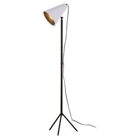 Торшер Lussole LGO Cozy LSP-0564, IP21, 1xE27x40W, черный, белый, металл, текстиль