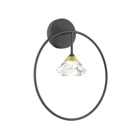 Бра Odeon Light Arco 4100/1W, 1xG9x5W, черный, прозрачный, металл, пластик