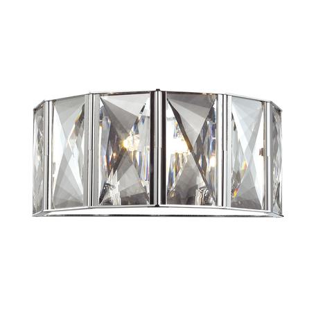 Бра Odeon Light Brittani 4119/2W, 2xG9x40W, хром, прозрачный, металл, хрусталь