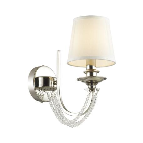 Бра Odeon Light Liria 4182/1W, 1xE27x60W, хром, белый, прозрачный, металл, текстиль, стекло