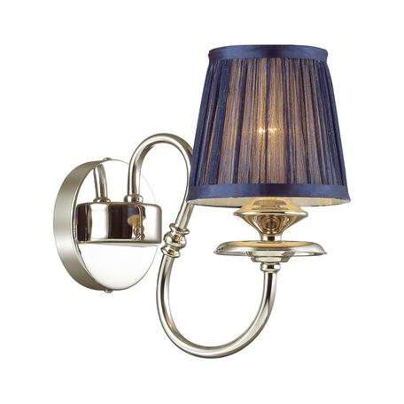 Бра Odeon Light Mirella 4191/1W, 1xE14x40W, хром, синий, металл, текстиль