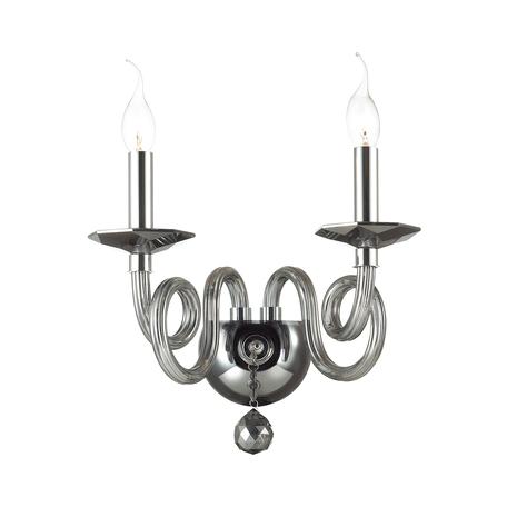 Бра Odeon Light Iria 4601/2W, 2xE14x40W, хром, дымчатый, стекло, хрусталь