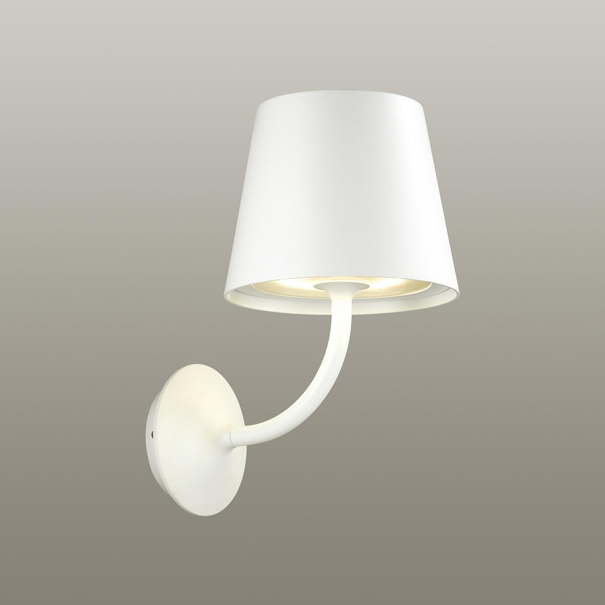 Светодиодное бра Odeon Light Elin 4609/7WL, IP65, LED 7W 3000K 555lm, белый, металл, стекло - фото 2