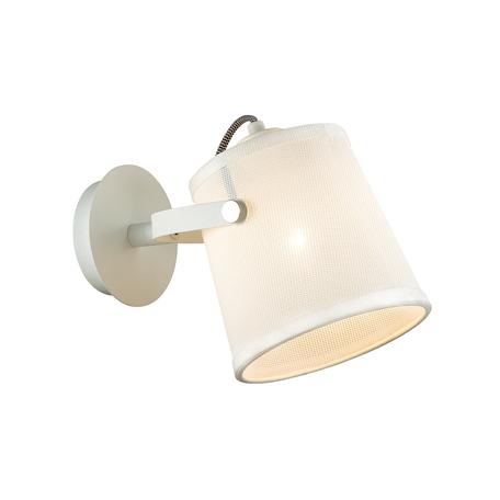 Бра с регулировкой направления света Odeon Light Loka 4160/1W, 1xE27x15W, белый, металл, текстиль