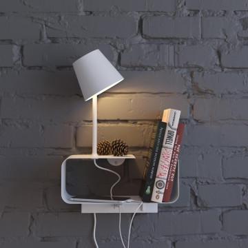 Светодиодное бра с регулировкой направления света с полкой Odeon Light Hightech Sven 4161/6WL, LED 6W 3000K 200lm, белый, металл - миниатюра 3