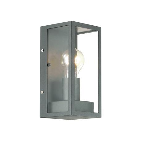 Настенный светильник Odeon Light Argos 4165/1W, IP44, 1xE27x60W, черный, прозрачный, металл, стекло