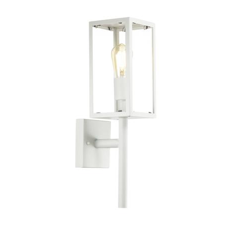 Настенный светильник Odeon Light Argos 4168/1W, IP44, 1xE27x60W, белый, прозрачный, металл, стекло