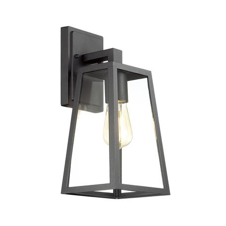 Настенный светильник Odeon Light Clod 4169/1W, IP43, 1xE27x60W, черный, прозрачный, металл, стекло