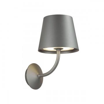 Настенный светодиодный светильник Odeon Light Elin 4608/7WL, IP65 3000K (теплый), черный, металл, стекло
