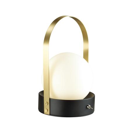 Настольная светодиодная лампа Odeon Light Tram 4076/5TL, LED 5W 3000K 500lm, черный, бронза, белый, металл, стекло