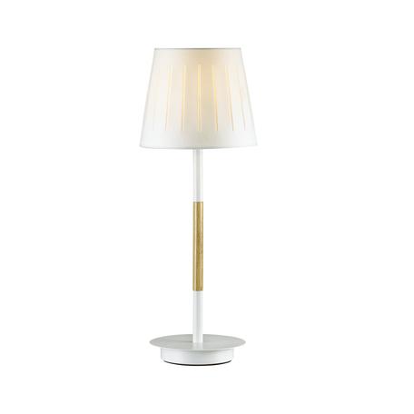 Настольная лампа Odeon Light Nicola 4111/1T, 1xE27x40W, белый, коричневый, металл, дерево, текстиль