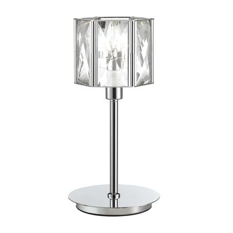 Настольная лампа Odeon Light Brittani 4119/1T, 1xE14x40W, хром, прозрачный, металл, хрусталь