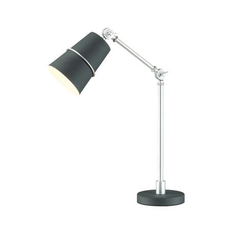 Настольная лампа Odeon Light Carlos 4154/1T, 1xE27x60W, черный, серебро, металл