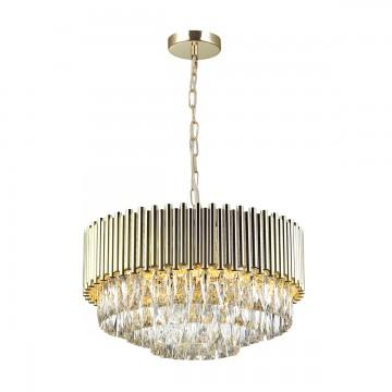 Подвесная люстра Odeon Light 4120/9, золото, прозрачный, металл, хрусталь