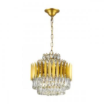 Подвесная люстра Odeon Light 4123/12, золото, прозрачный, металл, хрусталь