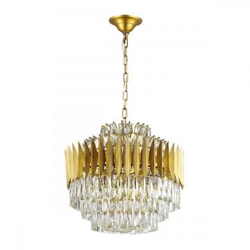 Подвесная люстра Odeon Light 4123/16, золото, прозрачный, металл, хрусталь