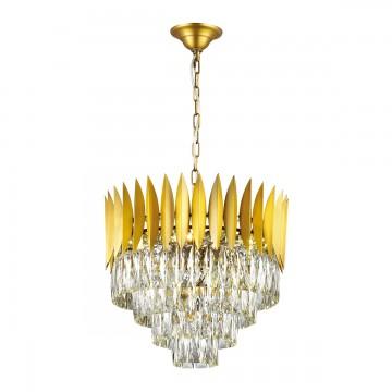Подвесная люстра Odeon Light 4124/12, золото, прозрачный, металл, хрусталь