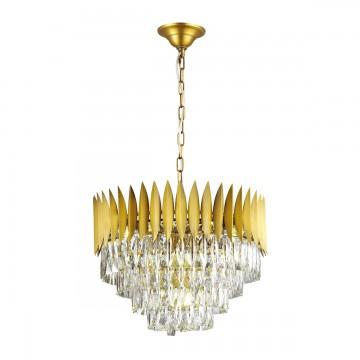 Подвесная люстра Odeon Light 4124/15, золото, прозрачный, металл, хрусталь