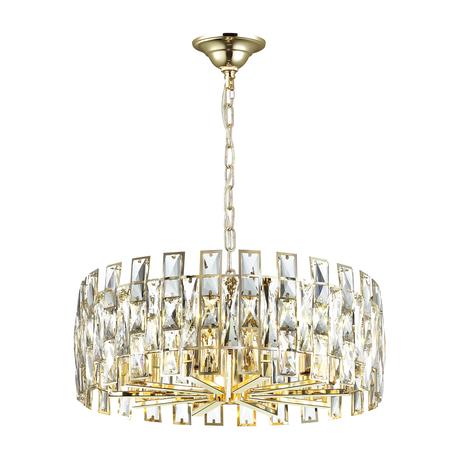 Подвесная люстра Odeon Light Hall Diora 4121/10, 10xE14x40W, золото, прозрачный, металл, хрусталь