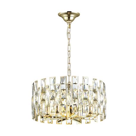 Подвесная люстра Odeon Light Hall Diora 4121/8, 8xE14x40W, золото, прозрачный, металл, хрусталь