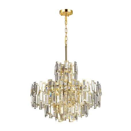 Подвесная люстра Odeon Light Agnes 4122/8, 8xE14x40W, золото, прозрачный, металл, хрусталь