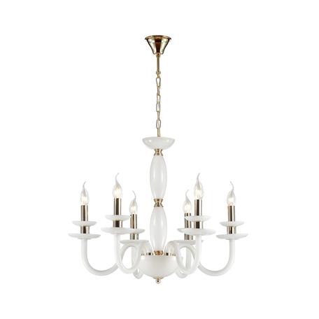 Подвесная люстра Odeon Light Capri 4187/6, 6xE14x40W, белый, стекло