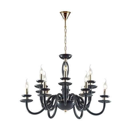 Подвесная люстра Odeon Light 4188/12, черный, золото, металл, стекло