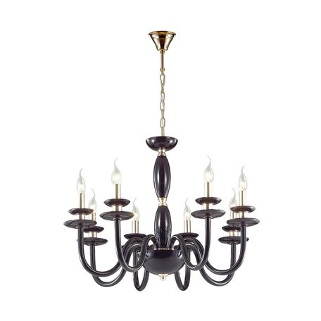 Подвесная люстра Odeon Light Capri 4188/8, 8xE14x40W, золото, черный, металл, стекло