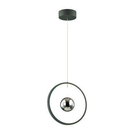 Подвесной светодиодный светильник Odeon Light L-Vision Lond 4031/21LA, LED 21W 3000K 1680lm, темно-серый, металл, стекло