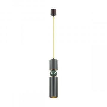 Подвесной светильник Odeon Light L-Vision Sakra 4075/5L, 1xGU10x5W, черный, желтый, зеленый, металл