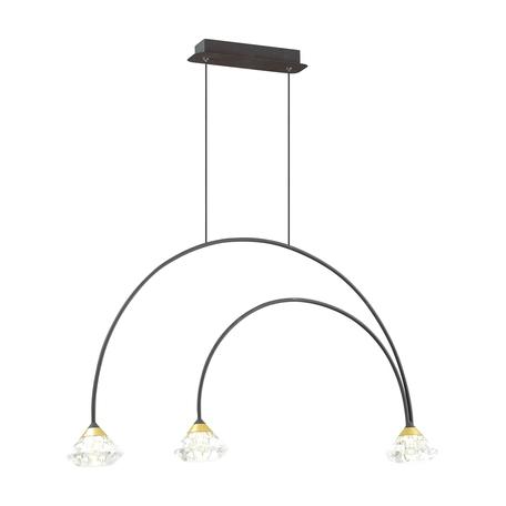Подвесной светильник Odeon Light Arco 4100/3, 3xG9x5W, черный, прозрачный, металл, пластик