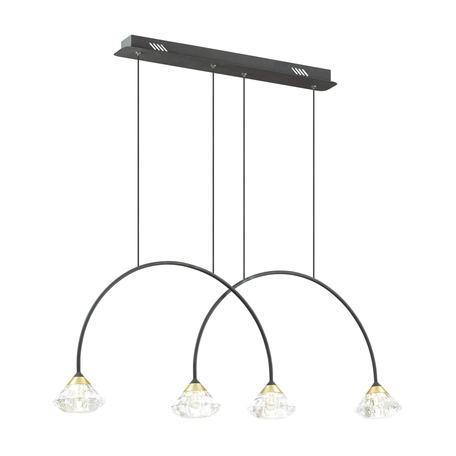 Подвесной светильник Odeon Light Arco 4100/4, 4xG9x5W, черный, прозрачный, металл, пластик